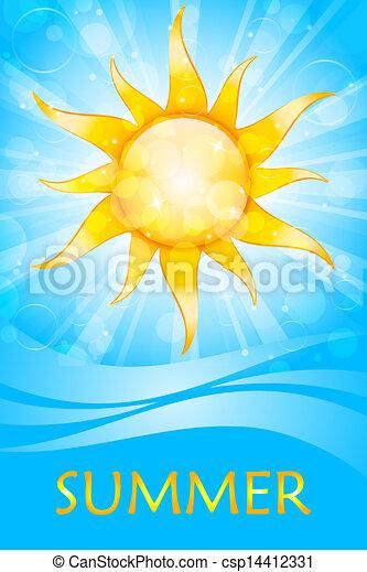 Vector summer background - csp14412331