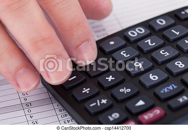 Doing Accounting Work - csp14412700