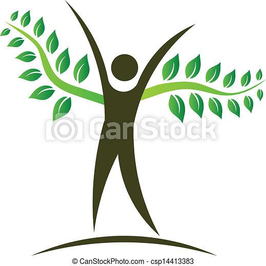 People tree logo design element - csp14413383