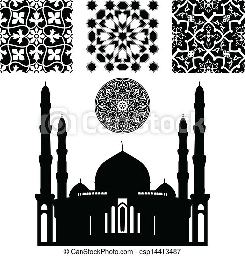 Vector of Islamic pattern - Vector of different Islamic pattern on ...
