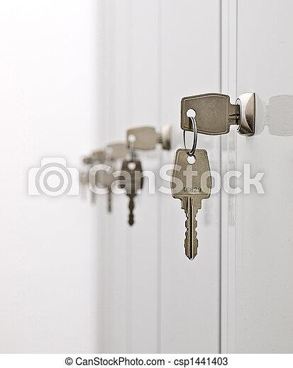 Keys and the locker doors - csp1441403