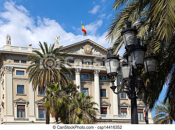 Spain. Barcelona. Military Government Building