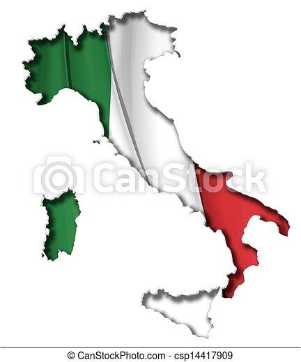 Italian Map-Flag - csp14417909
