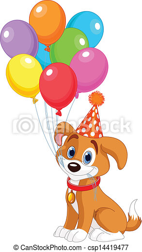 Birthday Puppy - csp14419477