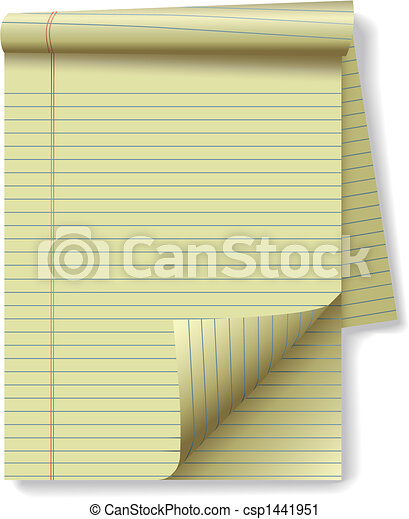 Can Stock Photo Yellow Lined Legal Pad