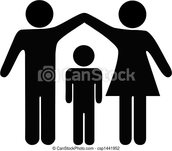 Mother Father Child Family Security - csp1441952