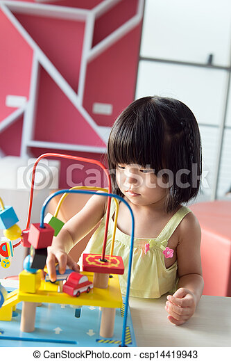 Child playing toy - csp14419943