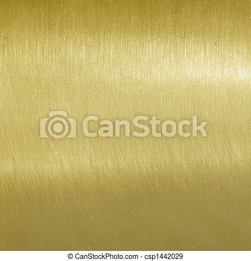 Fine brushed golden texture - csp1442029