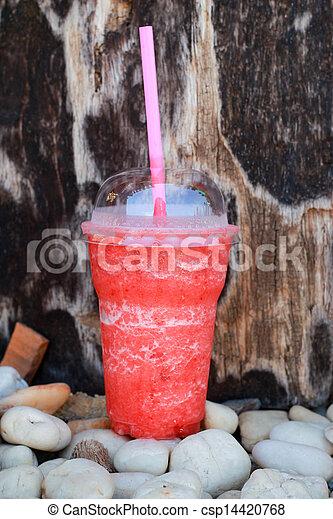 Strawberry smoothie.  - csp14420768