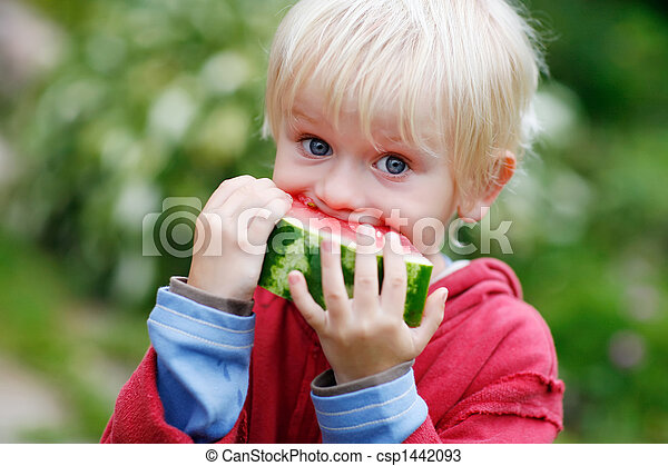 Melon Munching  - csp1442093