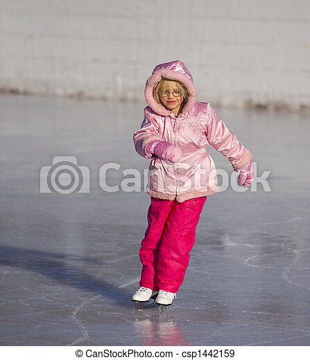Child in Pink Ice Skating - csp1442159