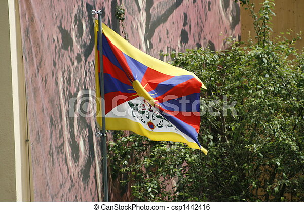 Flag of Tibet - csp1442416