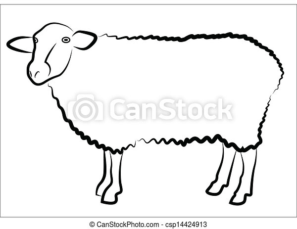 Sheep Vector Silhouette Sheep Silhouette Isolated on
