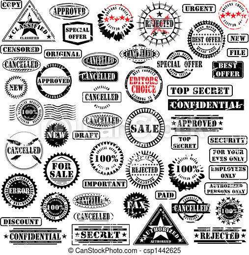 Rubber stamps collection - csp1442625