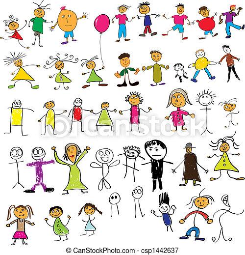Child like drawings - csp1442637
