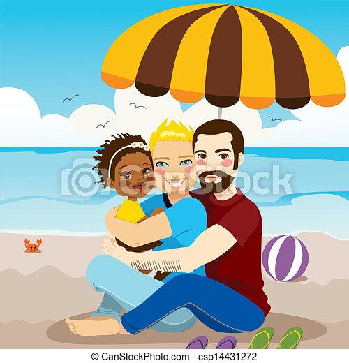 puño gay familia adoptiva