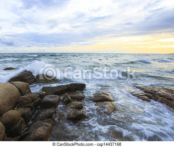Scenic Sea Landscape at sunset  - csp14437168