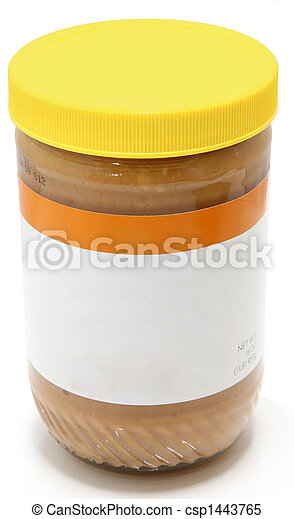 Jar of Crunchy Peanut Butter - csp1443765