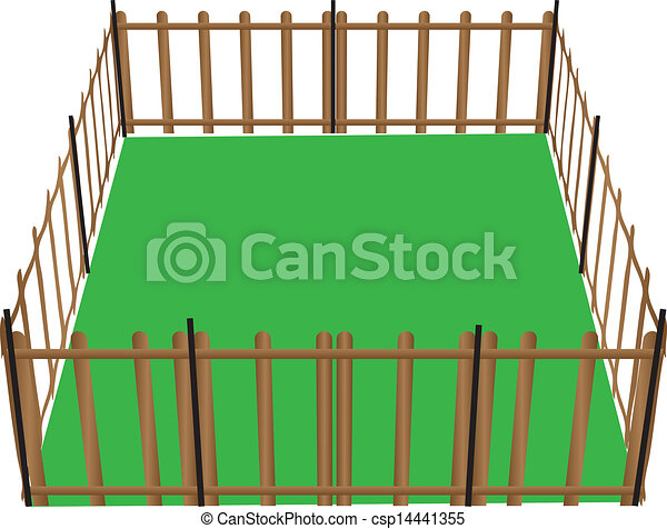 Farm Fence Clipart clipart vector of fence for animals - wooden fence for animals