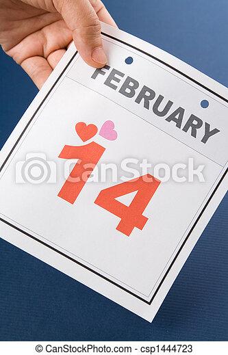 calendrier,  valentine\\\'s, jour - csp1444723