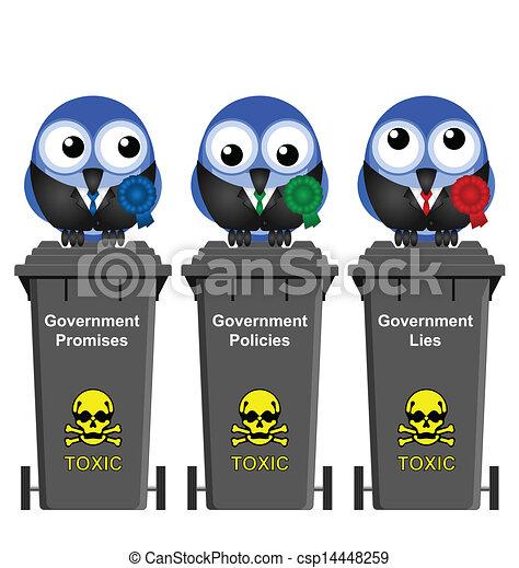 Government Waste Bins - csp14448259