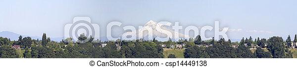 Mount Hood Oregon Rural Area Panorama - csp14449138