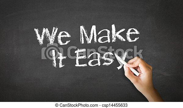 We make it easy Chalk Illustration - csp14455633