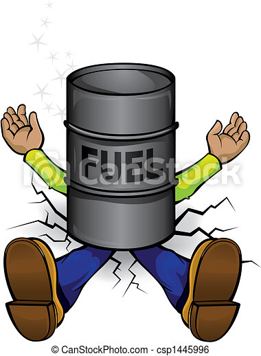 Crash by the high fuel prices - csp1445996
