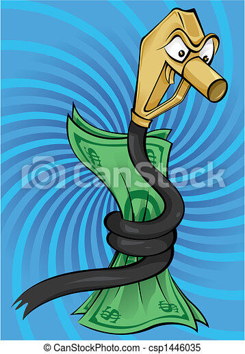 Snake oil - Cartoon illustration of the fuel crises - csp1446035