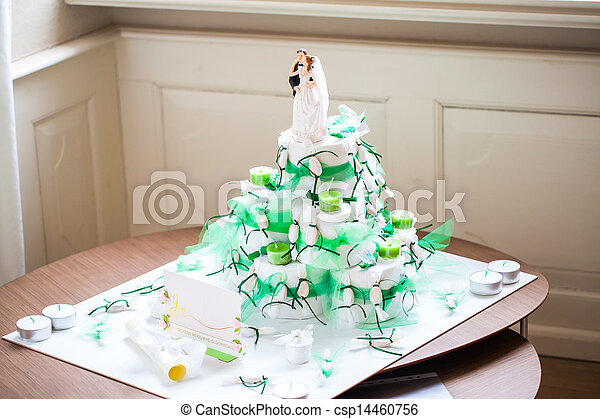 Images de faux mariage g teau blanc et vert mariage g teau csp144 - Papier toilette mariage ...