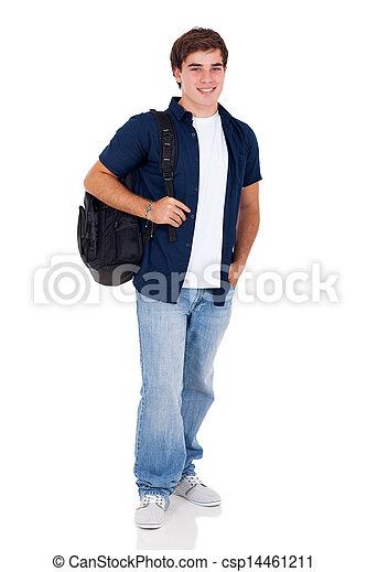 high school teenage boy  - csp14461211