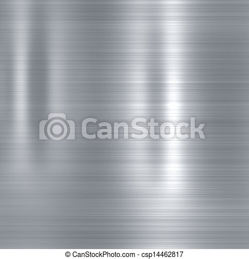 Brushed steel metallic plate