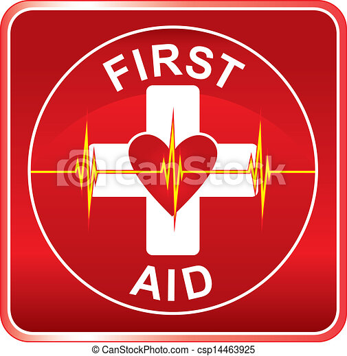 Vector Illustration of First Aid Health Symbol - Illustration of a ...