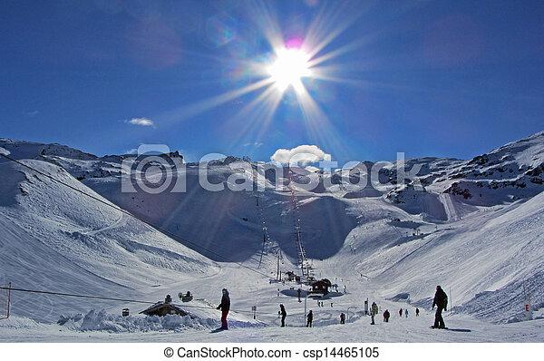 Ski Slopes in the Sun