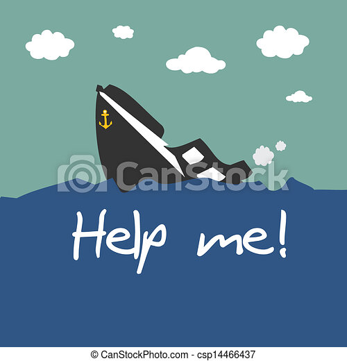 Vectors of Boat capsized csp14466437 - Search Clip Art ...