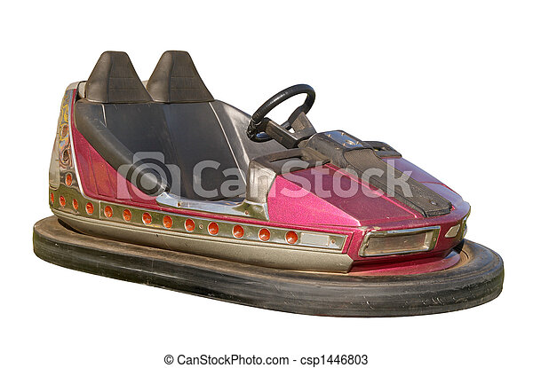 An old funfair bumper car. - csp1446803