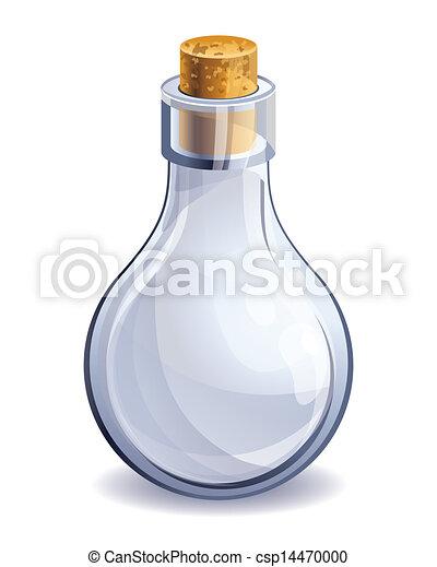 Vector Clipart of empty glass bottle - vector illustration ...