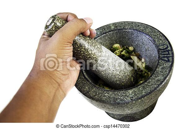 photographies de mortier pierre tha lande mains are mart lement csp14470302. Black Bedroom Furniture Sets. Home Design Ideas