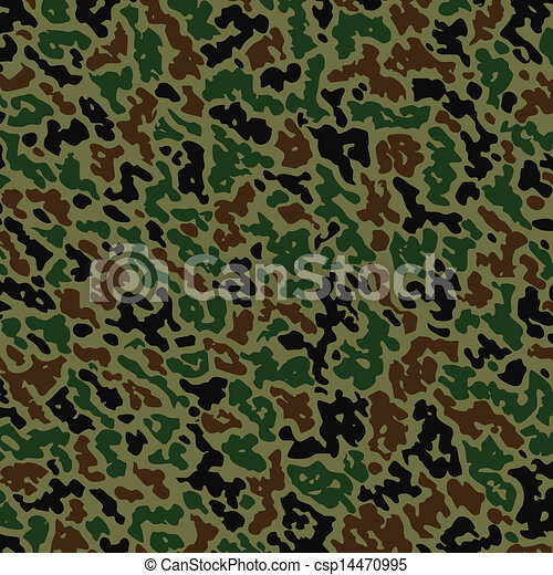 vector military camouflage pattern - csp14470995