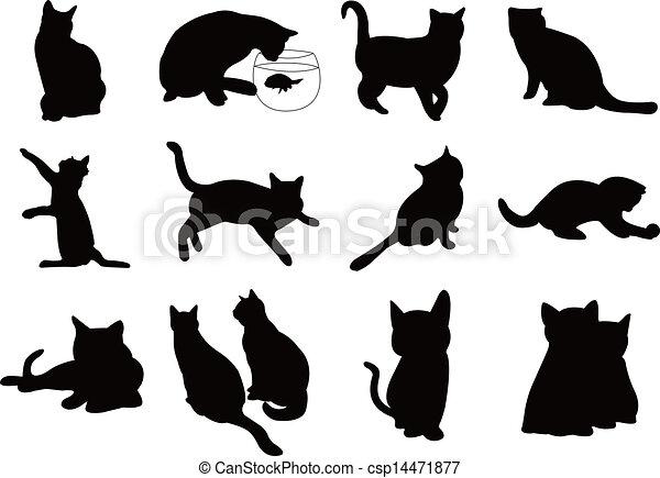 Black Cat Soccer Vector
