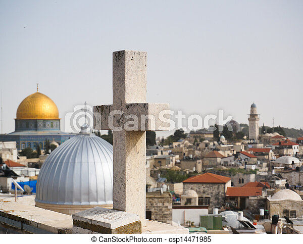 Mosques and churches in jerusalem - csp14471985