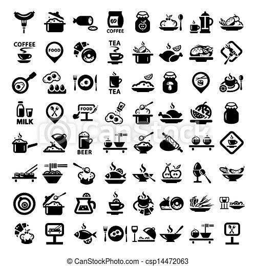 big food icon set - csp14472063