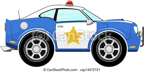 Clipart Vector of small blue car cartoon - funny blue car cartoon ...