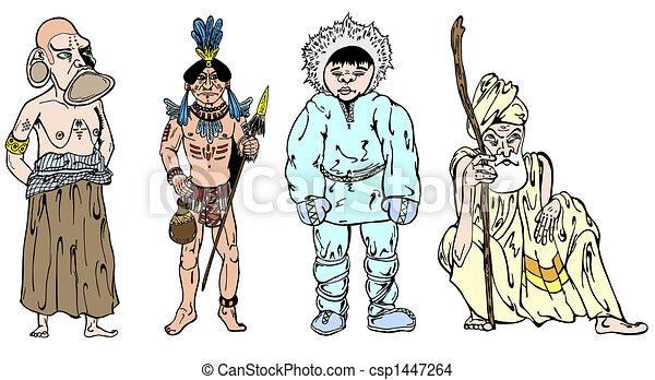 africano, esquimal, indio - csp1447264