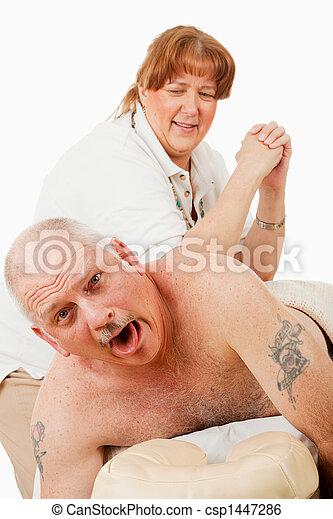 ladies:de mann wird massiert