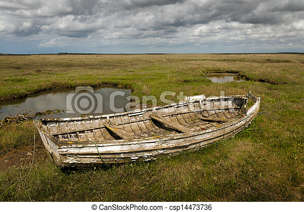 Old Wooden Row Boats Old Rotting Wooden Rowing Boat