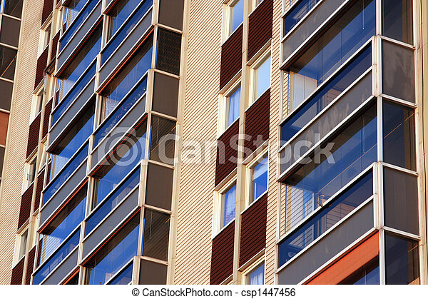 balconies of residential building - csp1447456