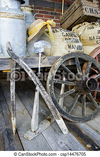 Arrangement of vintage items - csp14476705