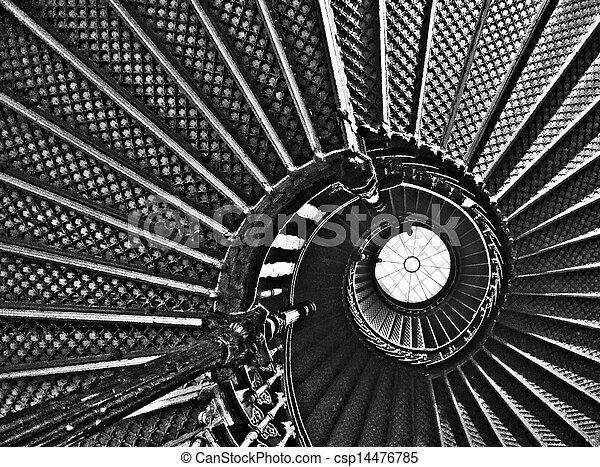 images de d velopper spirales escalier noir blanc. Black Bedroom Furniture Sets. Home Design Ideas