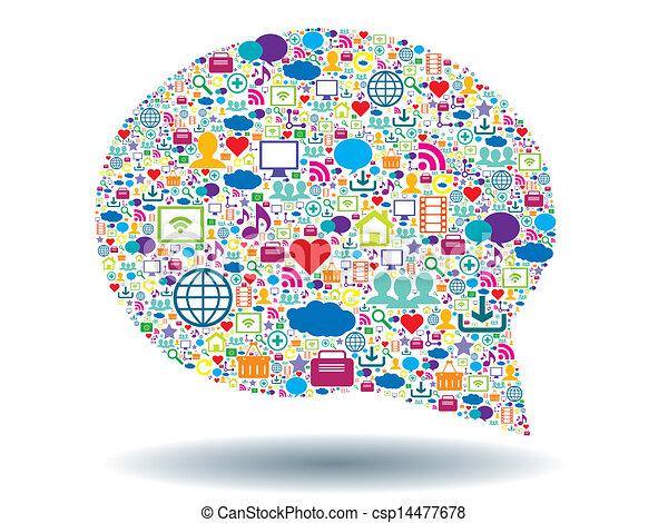 bubble of communication - csp14477678